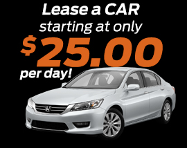Lease a car for $25 a day!